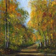 1048. Autumn Days Original Landscape Acrylic Painting by Janet M Graham.jpg
