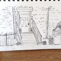 Door and stairs drawing.JPG